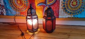Moroccan style lamp and matching lampshade
