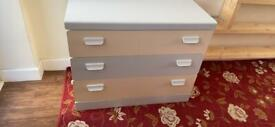 Grey and cream chest of drawers