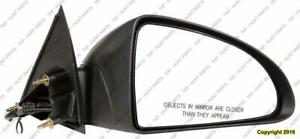 Door Mirror Power Passenger Side Textured Sedan PONTIAC G6 2005-2010