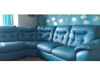 Right-hand corner sofa teal