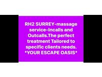 Rh2 Surrey-MASSAGE SERVICE In call and out call