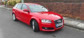 image for 2010(10)AUDI A3 SPORT 1.6 TDi  BRIGHT RED,NEW MOT,FSH,£20 TAX,CLEAN CAR