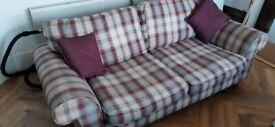 Two tartan style sofas