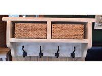 Coat Hanger Shelf - Chalk White/Shabby Chic