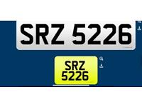 SRZ 5226 private cherished personalised personal registration plate number fee included