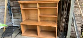 TV Console and book shelves
