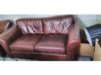 Leather Brown suite, 2 chairs and 1 x 2 seater £500. bought from M & S