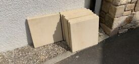 Excess BRAND NEW: Buff Textured Paving Stones (600x600) 15 available