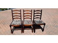 Three chairs for restoration