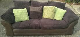 Beautiful & almost new 3 seater & 2 armchairs -RRP. £1,500