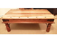 Solid Wooden Sheesham Coffee Table