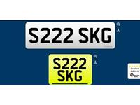 S222 SKG private cherished personalised personal registration plate number fee included
