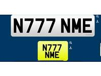N777 NME private cherished personalised personal registration plate number fee included