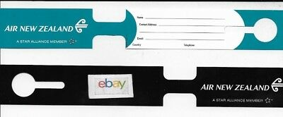 AIR NEW ZEALAND LUGGAGE TAG ADDRESS LABEL UNUSED BLACK/TOURQUOISE
