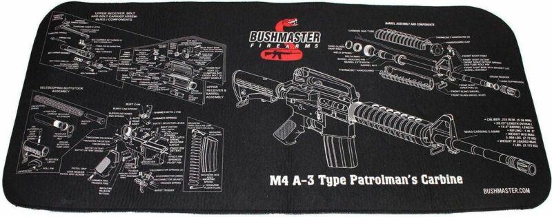 BUSHMASTER NEOPRENE SCHEMATIC GUN CLEANING MAT