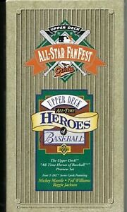 1993 UPPER DECK ALL-STAR FANFEST ALL-TIME HEROES OF BASEBALL SET