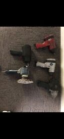 4 impact wrenches and orpital sander