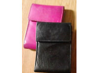 20 Pockets Pink Leather Credit Card Wallet Holder[Holds 40 cards]+FREE GIFT!
