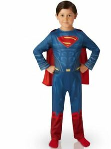 costume de superman cape et masque enfant 4- 6 ans halloween