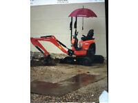 Mini- Excavators Kubota U10/3 Tracked Mini -digger