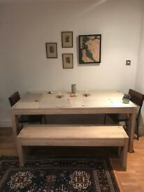 West Elm Boerum Dining Table + Bench