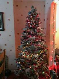 8ft flocked Christmas tree