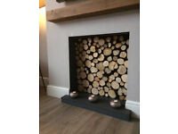 PERFECT FIRE LOGS - real rustic cut logs (firewood logs) for decorative fireplace displays