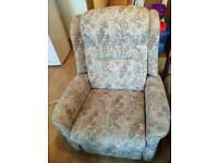 2X reclining armchairs