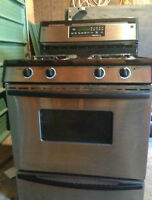 Used stainless gas Jenn-Air stove