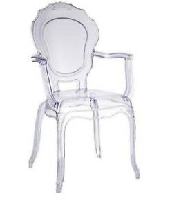 Belle Epoque Clear Acrylic Accent Chair