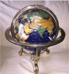 Genuine Gemstone Globe