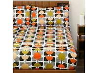 Orla Kiely Square Flower Coral Super King Duvet Set With 2 Pillowcases BNIB