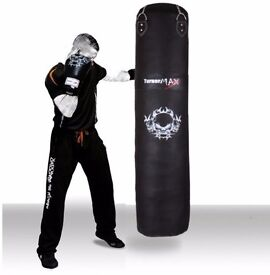 TurnerMAX Punch Bag Heavy COWHIDE LEATHER Kickboxing Martial Arts MMA Training