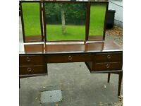 Stag dressing table, mirrors, drawers, dovetailed joints super