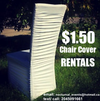 $1.50 Chair Cover Rentals Ruched Stretch Style