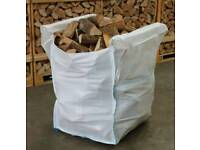 Dumpy bag kiln dry silver birch hardwood firewood logs only £65 inc free local delivery