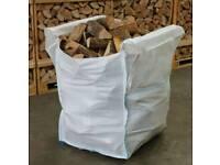 Dumpy bag kiln dry hardwood OAK firewood only £65 inc free local delivery