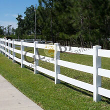 PVC fencing 3 Rail  post and rail horse rural fencing Osborne Park Stirling Area Preview