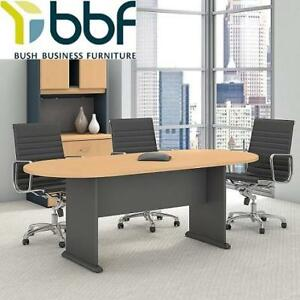 NEW RACETRACK OVAL CONFERENCE TABLE TR14384A 230109874 BUSH BUSINESS FURNITURE BEECH
