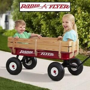 NEW* RADDIO FLYER FULL SIZE WAGON 36X 246367368 STEEL  WOOD ALL TERRAIN