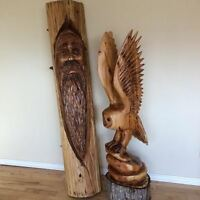 Carvings for sale.
