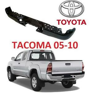 NEW* TOYOTA TACOMA BUMPER 05-10 - 111412323 - REAR  STEP BUMPER TOYOTA BLACK UNPAINTED FINISH