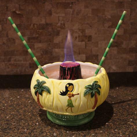 Tiki Mug  VOLCANO BOWL Big Hawaii Ceramic Barware 48 OZ