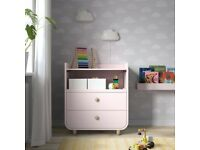 ikea changing table pink