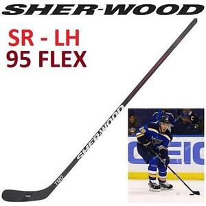 NEW SHERWOOD HOCKEY STICK SR LH SR SENIOR LH LEFT HAND 95 FLEX - GRIP - TRUE TOUCH - PP26 STASNTY 104016558