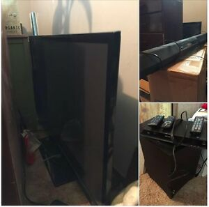 "51""tv, blu-ray, sony surround sound/blutooth sound bar/sub"