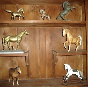 LARGE COLLECTION OF HORSE SCULPTURE