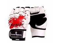 TurnerMAX MMA GRAPPLING GLOVES - BLOOD SPLATTER S M L