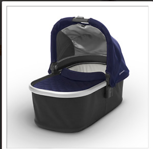 2015 uppa baby basinette NAVY with ORGANIC MATTRESS COVER