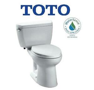 NEW TOTO DRAKE ECO TOILET - 117959914 - DRAKE ECO 2-PIECE 1.6 GPF SINGLE FLUSH ELONGATED TOILET IN COTTON